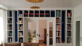 Bücherregalwand