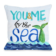 "By the Sea, Multi, 18""x18"" Pillow by Timree"