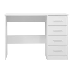 Reflect 4-Drawer Dressing Table, Glossy White