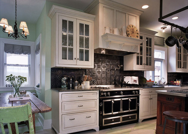 Traditional Kitchen by Kipnis Architecture + Planning - Tin's A Win For Kitchen Backsplashes