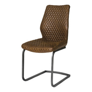 Charlie Contemporary Dining Chairs, Set of 2, Antique Bronze