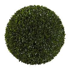 Artificial Plant, 14 Inch Boxwood Ball Silk Plant