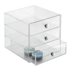 InterDesign Clear Plastic 3 Drawer Organizer