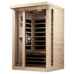 "Dynamic Saunas - Dynamic ""Amodora"" 2-person Low EMF Far Infrared Sauna - Dynamic Canadian Hemlock Saunas bring healthy living and longevity to the privacy of your home cost effectively. Modern technology and energy efficiency in FAR infrared carbon heating panels allow beneficial penetrating FAR infrared waves to remove body toxins, increase blood circulation, ease pain from sore muscles or aching joints, burn calories and improve skin tone among other benefits."