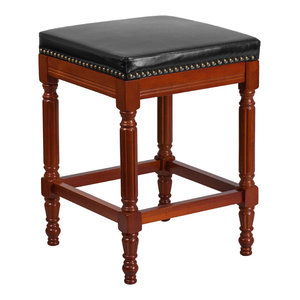 26 Quot H Backless Light Cherry Wood Counter Height Stool With