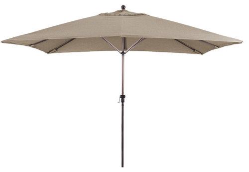 Charmant 11u0027x8u0027 Rectangular Aluminum Market Umbrella Bronze, Sunbrella, Taupe · More  Info