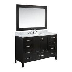 "London 54"" Single Sink Vanity Set, Espresso Finish"