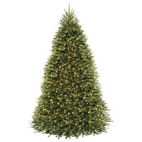 10' Dunhill Fir Tree With Dual Color LED Lights, 10'