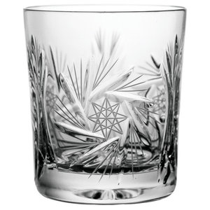 Pinwheel Lead Crystal Whisky Glasses, Set of 6