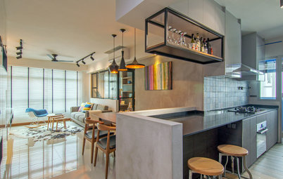 Houzz Tour: Crisp Decor and Clever Space Planning Makes This Flat Shine