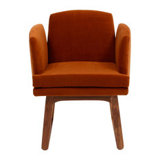 Allison Chair, Cognac Fabric