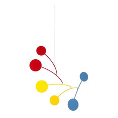 Circle Series  Mobile - Blue/Black, Red/Yellow/Blue