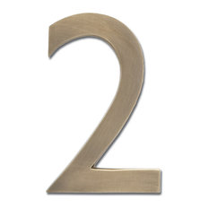 "4"" House Number, Antique Brass, ""2"""