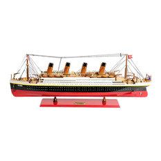 Titanic Medium Black Paint White Model Ship