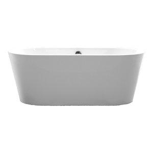 Vanity Art Freestanding Acrylic Bathtub, White, Small