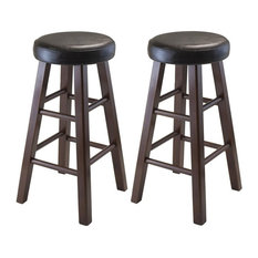Winsome Marta 25-inch Faux Leather Counter Stool In Walnut (Set Of 2)