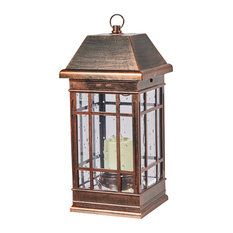 Outdoor Table Lamp: Smart Solar - Smart Solar 3900KR1 San Rafael Mission Style Solar Lantern - Outdoor  Table Lamps,Lighting