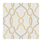 Sausalito Taupe/Yellow Peel and Stick Wallpaper Bolt