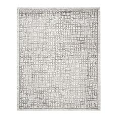 Safavieh - Elizabeth Area Rug, Silver/Ivory, 8'x10' - Area Rugs