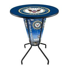 Lighted U.S. Navy Pub Table