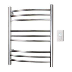 WarmlyYours Towel Warmer Riviera Hard-wire 9-bar Polished Stainless
