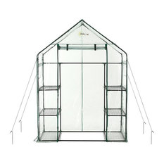 Deluxe Walk-in 3-Tier 6-Shelf Portable Greenhouse