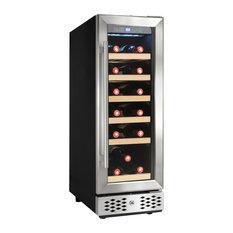 AKDY 18 Bottles Single Zone Compressor Function Freestanding Wine Cooler Chiller