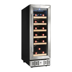 Akdy Home Improvement 18 Bottles Single Zone Compressor Function Freestanding Wine Cooler Chiller