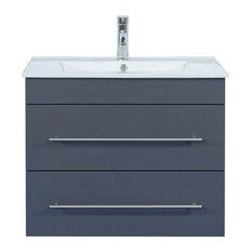 Emotion Casa Infinity 750 Bathroom Furniture, 80 cm, Anthracite Semi-Gloss