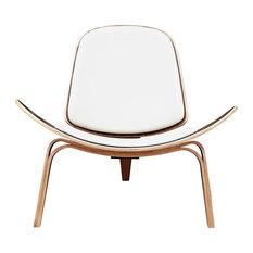 NyeKoncept Shell Chair, Walnut, Milano White