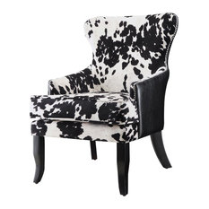 Coaster Cowhide Print/Leatherette Accent Chair