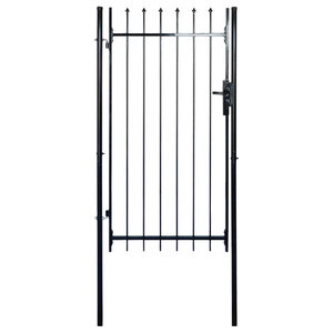 Single Door Fence Gate With Spear Top, 100x150 cm
