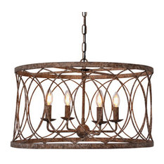 Circular Lantern Antiqued Iron