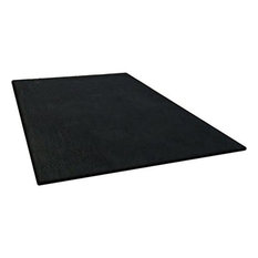 Rug 5 X7 Solid Black Luxurious High Quality Gy Living Room
