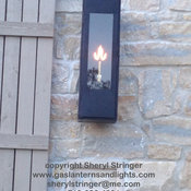 Sheryl's Contempo Gas Lantern with Black Finish