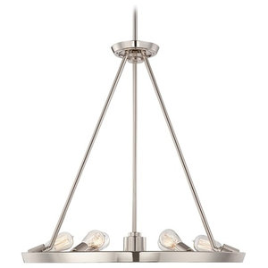 6-Light Chandelier, Imperial Silver