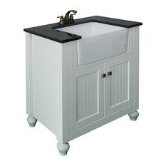 Legion Furniture Legion Mara Vanity With Farm Sink, White