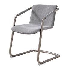 Florent Fabric Side Chair Silver Frame Sage Gray/Velvet Gray (set Of 2)