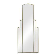 Empire Original Handcrafted Art Deco Full Length Mirror, Gold, 120x50 cm