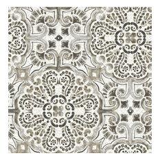 Florentine Gray Tile Wallpaper Bolt