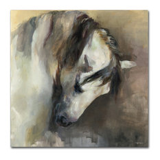 "Marilyn Hageman 'Classical Horse' Canvas Art, 35""x35"""