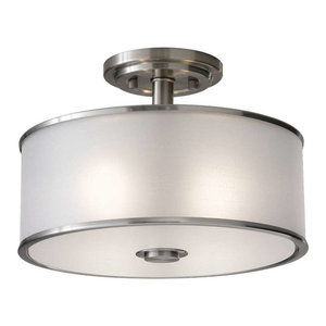 Murray Feiss SF251BS Casual Luxury Semi Flush Mount, Brushed Steel