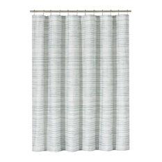 Five Queens Court Andrew Shower Curtain, Sea Foam