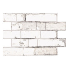 Weathered White Brick Slip Effect Tiles, 1 m2
