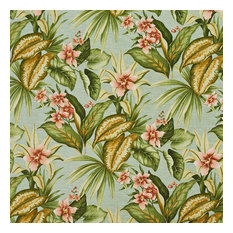 Green Blue And Red Floral Indoor Outdoor Upholstery Fabric By The Yard