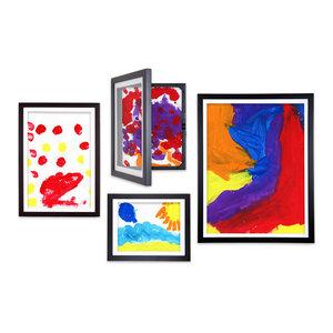 Lil DaVinci® Art Frames 4-piece set: 18x24, 12x18, 9x12, & 8.5x11 frames, Black