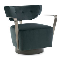 Modern Fusion Swivel Accent Chair