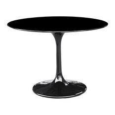"Fine Mod Imports Flower Table, Black, 48"""