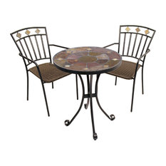 Ondara 3-Piece Bistro Set With Malaga Chairs