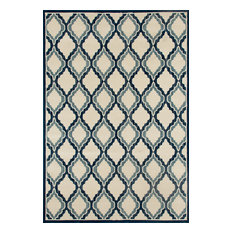 Art Carpet   Art Carpet Milan Hopscotch Peacock Blue, Cream, Medium Blue 2u0027